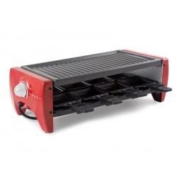 Raclette grille pour 8 personnes 1200 W rouge