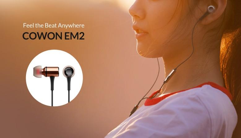 Écouteurs intra-auriculaires avec télécommande Cowon EM-2